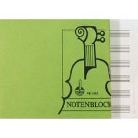 Notenblock - DIN A5 quer 6 Sys. 50 Blatt