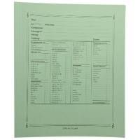 Notenumschlag - Quart grün