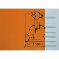 Notenblock - DIN A5 quer 4 Sys. 50 Blatt