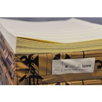 Notenpapier - Quart  hoch 8 Systeme