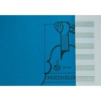 Notenblock - DIN A5 quer 6 Sys. m.Hilfsl