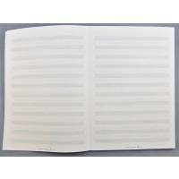 Notenblock 100 Seiten/ 12 Sys. 80 g/m²