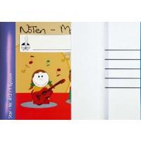 Notenmalbücher - DIN A4 quer 1 System