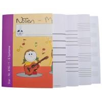 Notenmalbücher - DIN A4 quer 1-6 Systeme