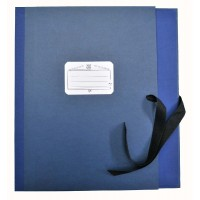 Notmappe Bach&Quart verst Klap. 8cm blau