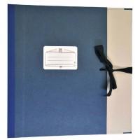 Notenmappe Bach & Quart Klappen 8cm blau