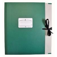 Notenmappe Bach & Quart Klappen 8cm grün