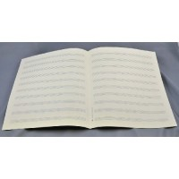 Notenpapier - Quart  hoch 10 Systeme