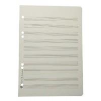 Notenpapier - A5 hoch gelocht 10 Systeme