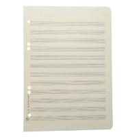 Notenpapier - A5 hoch gelocht 12 Systeme
