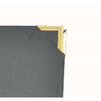 4 Metallecken-Gold, Silber od. Schwarz