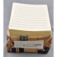 Notenpapier - Marsch hoch 10 Systeme