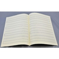Notenpapier - Bach hoch 4 x 3 Systeme