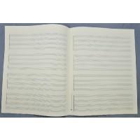 Notenpapier - Quart hoch 4 x 4 Systeme Q