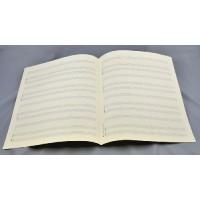 Notenpapier - Quart  hoch 4x3 Systeme