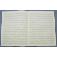 Notenpapier - Quart  hoch 14 Systeme