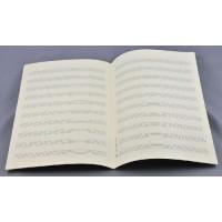 Notenpapier - DIN A4 hoch 10 Systeme wei