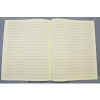 Notenpapier - Quart  hoch 20 Systeme