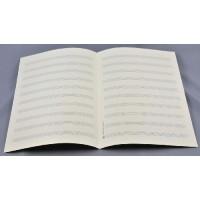 Notenpapier - DIN A 4 hoch 10 Systeme