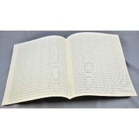 Notenpapier - Quart hoch 26 Sys m. Takts