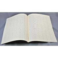 Notenpapier - Quart hoch 24 Sys m. Takts