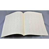 Notenpapier - Quart hoch 18 Sys m. Takts