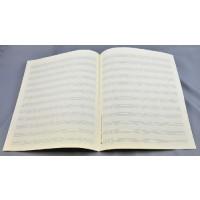 Notenpapier - Quart hoch 12 Sys m. Hilfs