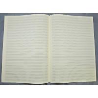 Notenpapier -A3 hoch 24 Sys, Hilfslinien