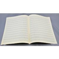 Notenpapier - Bach hoch 12 Sys m. Hilfsl