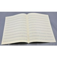 Notenpapier - Bach hoch 10 Systeme