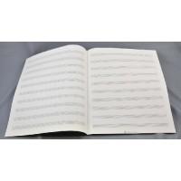 Notenpapier -2000 - Quart hoch 10 Sy
