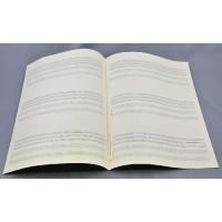 Notenpapier - DIN A 4 hoch 4 x 3 Systeme
