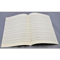 Notenpapier - Bach hoch 6 x 2 Systeme