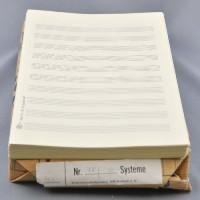 Notenpapier - DIN A5 hoch 10 Systeme