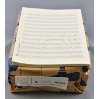 Notenpapier - DIN A5 hoch 12 Systeme