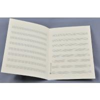 Notenpapier - DIN A5 hoch 8 Systeme