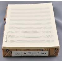 Notenpapier - DIN A5 hoch 9 Systeme