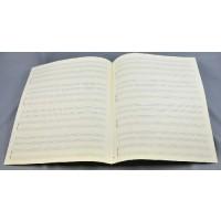 Notenpapier - Quart hoch 4x Klavier m. 2