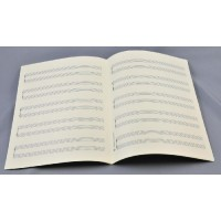 Notenpapier - DIN A 4 hoch 5x2 Systeme