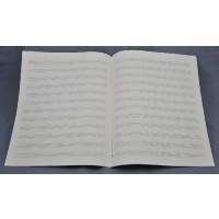 Notenpapier - Quart  hoch 12 Systeme