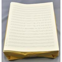 Notenpapier - Quart hoch 6 x 2 Systeme