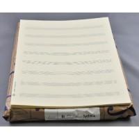 Notenpapier - DIN A 4 hoch 8 Systeme