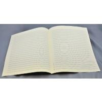 Notenpapier - Quart  hoch 22 Systeme