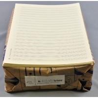 Notenpapier - DIN A4 hoch 20 Systeme