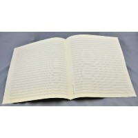 Notenpapier - Quart  hoch 18 Systeme