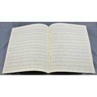 Notenpapier - Quart  hoch 5x3 Systeme