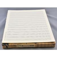 Notenpapier - Quart hoch 14 Sys m. Hilfs