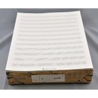 Notenpapier -2000 - Quart hoch 12 Sy