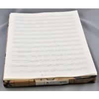 Notenpapier -2000 - Quart hoch 14 Sy