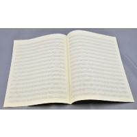 Notenpapier - Bach hoch 16 Systeme